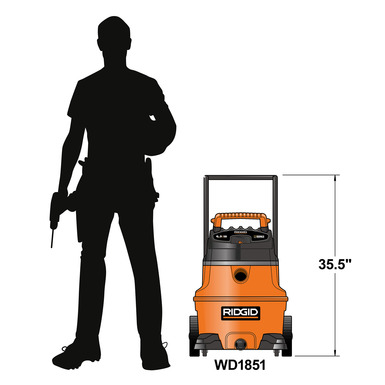 RIDGID 31698 - Wet/Dry Vacuum;16 Gallon  230v