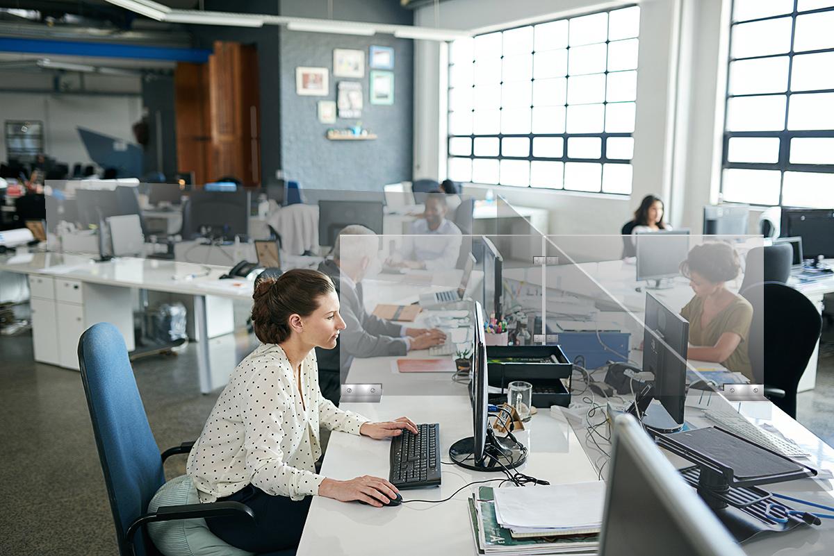 GAZELLE_G9614_Multiple Enclosure Desk Partition - Multiple Enclosure Desk Partition