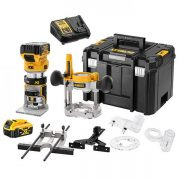 DeWALT DCW604P2-GB - 18v XR 8mm Plunge/Fixed Router 5.0Ah Kit
