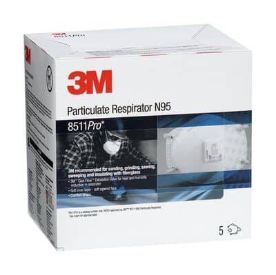 3M 8511Pro - Particulate Respirator, N95 40 EA
