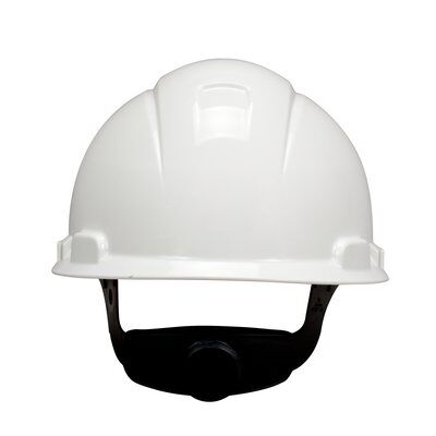 - Hard Hat, White 4-Point Ratchet Suspension