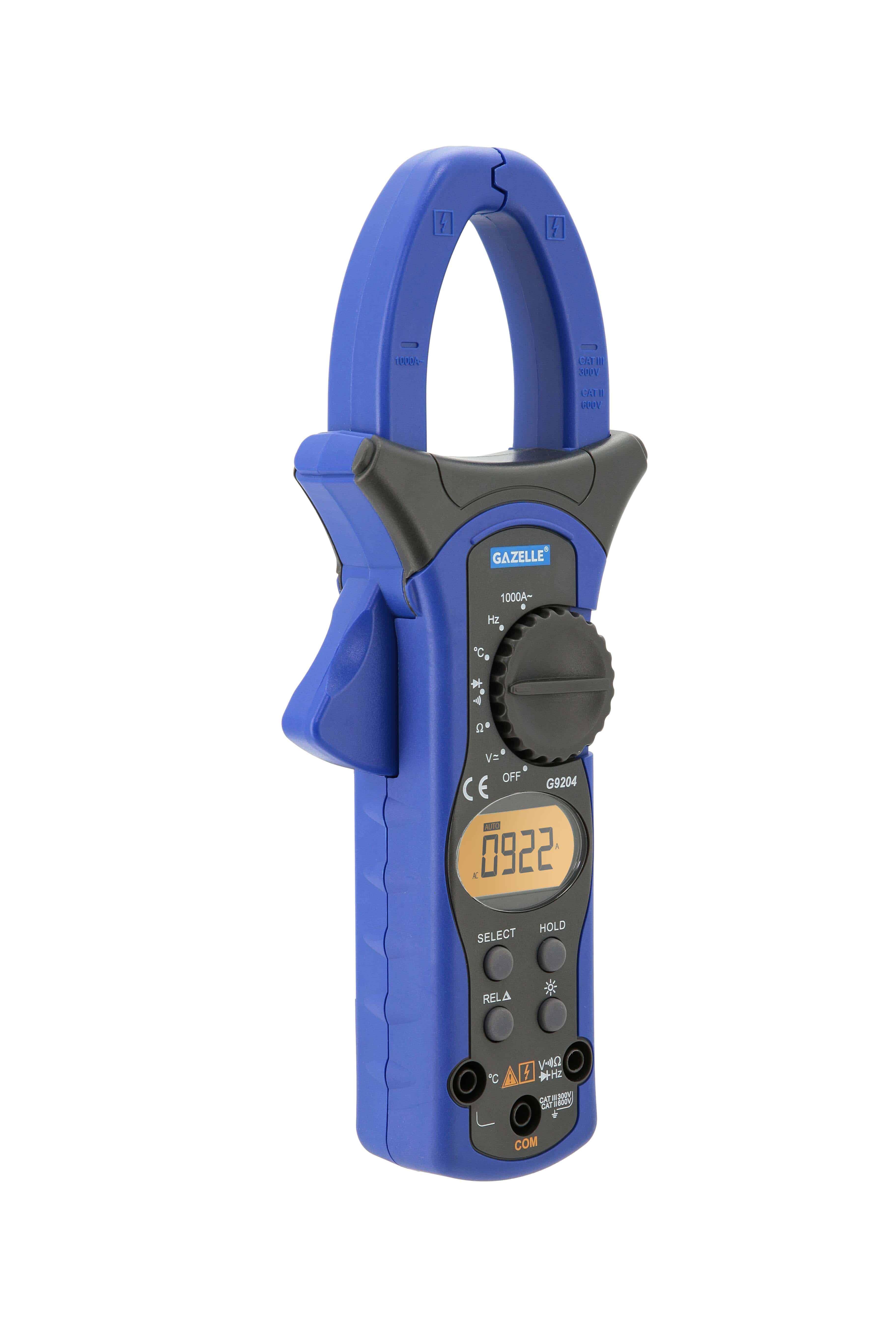 GAZELLE G9204 - 1000A Auto Range Digital Clamp Meter
