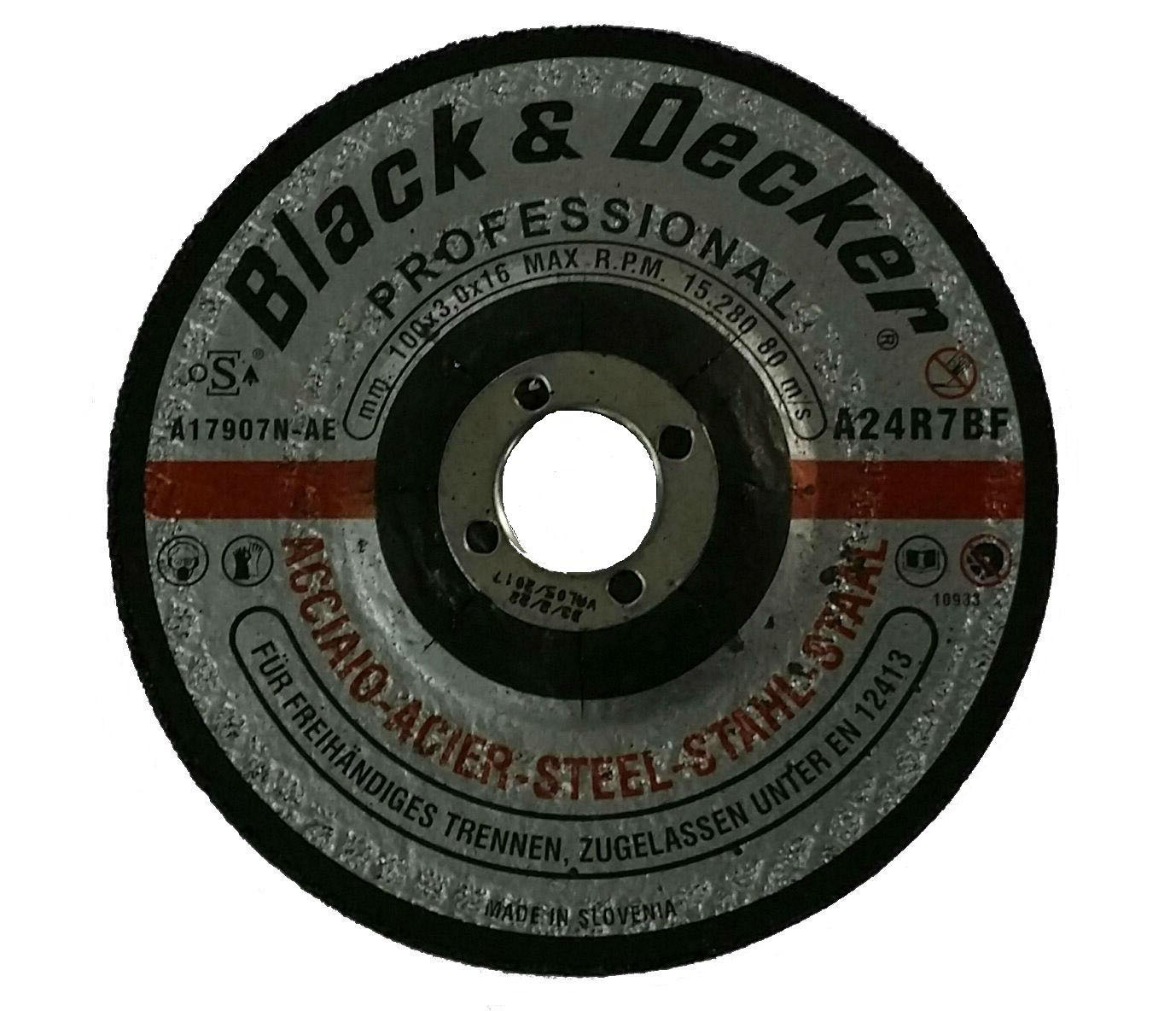 Black & Decker A17907N-AE - 4in Metal Cutting Disc