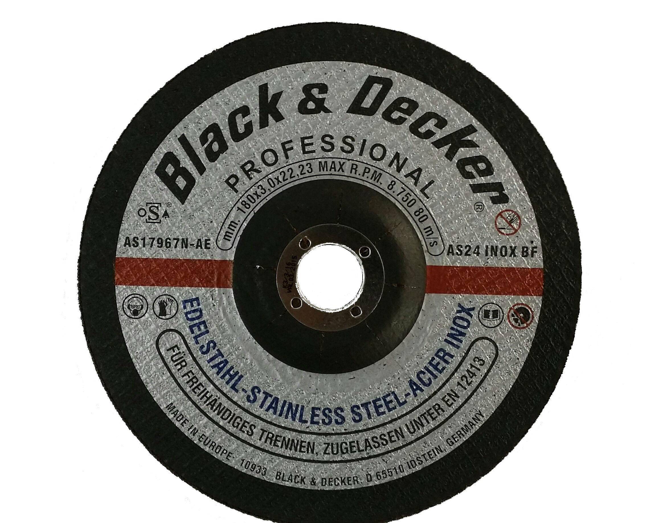 Black & Decker AS17967N-AE - 7-inch S.Steel Cutting Disc
