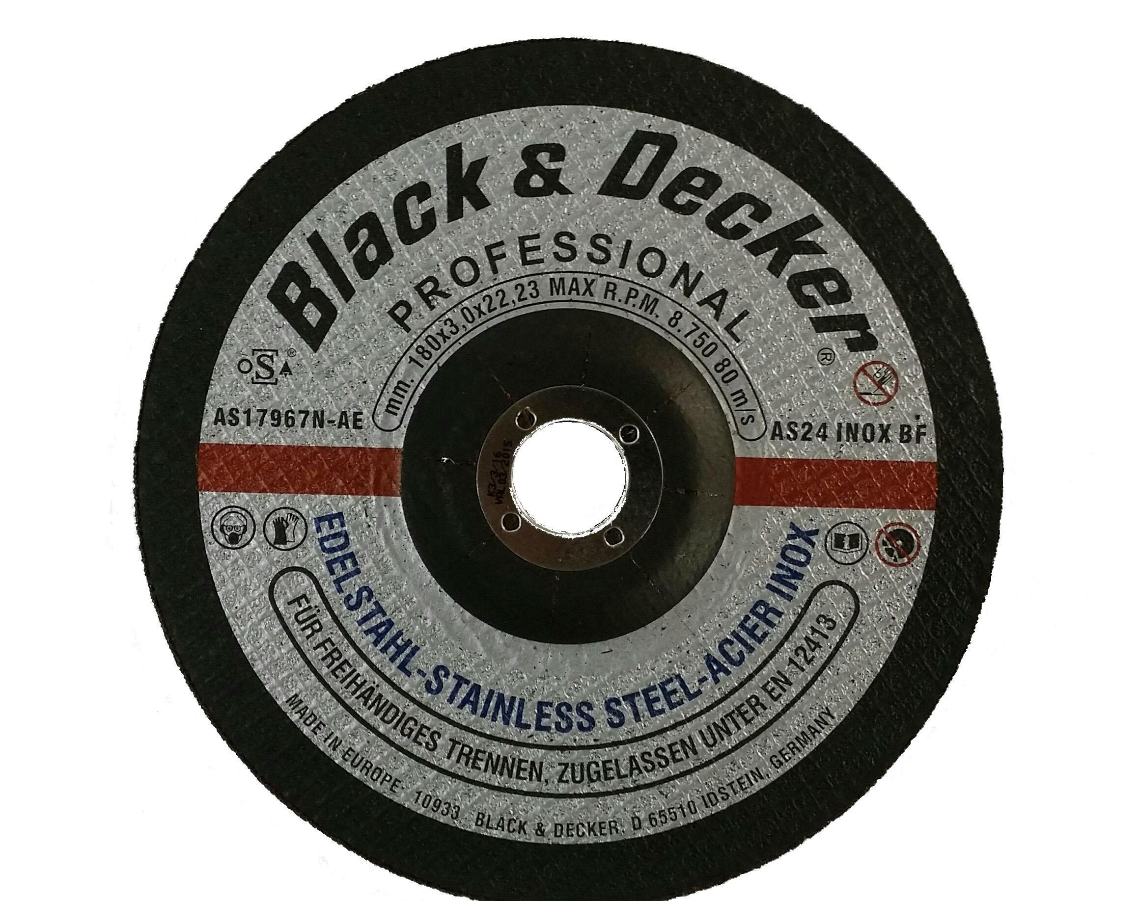 Black & Decker AS17967N-AE - 7-inch S.Steel Cutting Disc