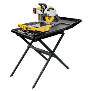 DeWALT D24000S-QS - Slide Table Wet Tile Saw & Leg Stand 220V