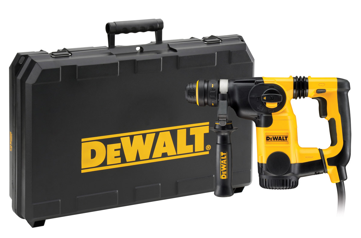 DeWALT D25324K-LX - 26mm L-Shape SDS-Plus Combination Hammer + QCC + AVC 110V