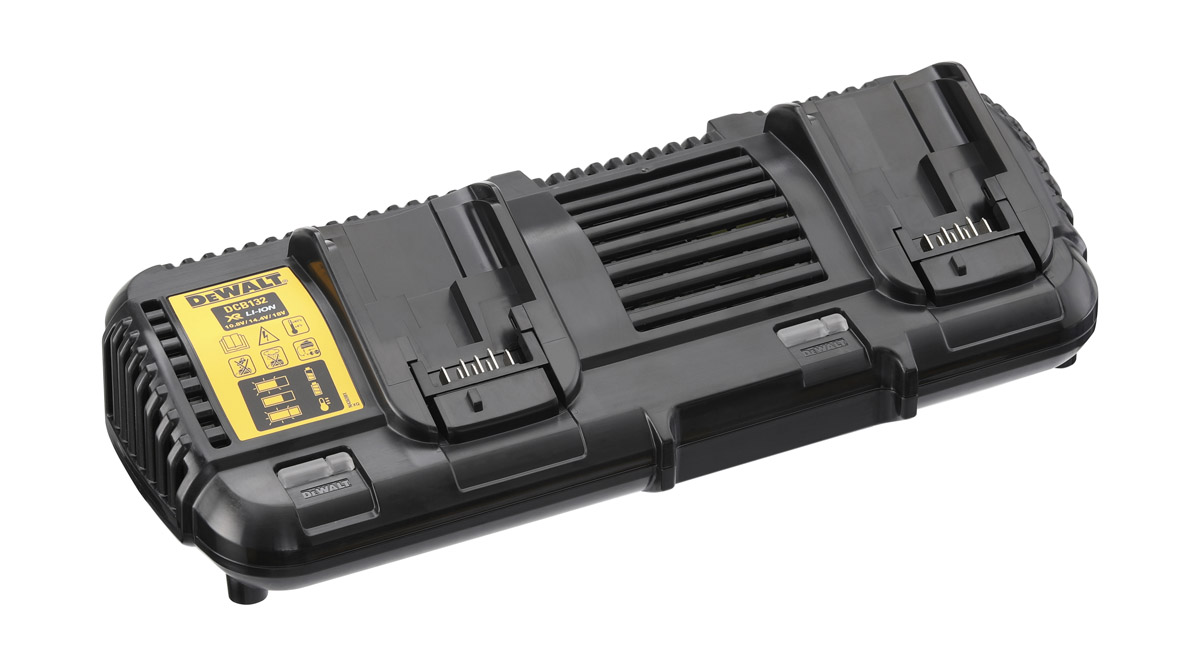 DeWALT DCB132-GB - XR Flex Volt Dual Port Charger 4Ah 220V