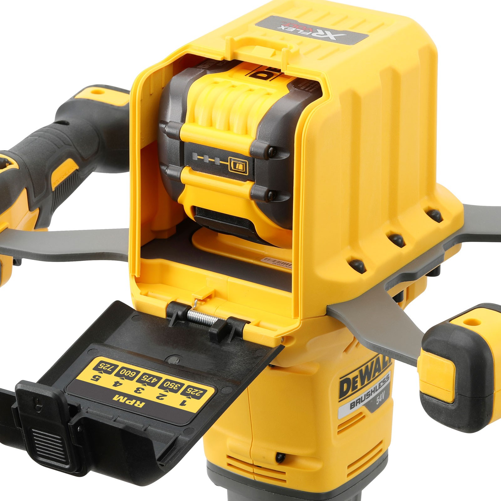 DeWALT DCD240X2-GB - 54V XR Flex Volt Dual Handle Mixer – 9Ah, 220V