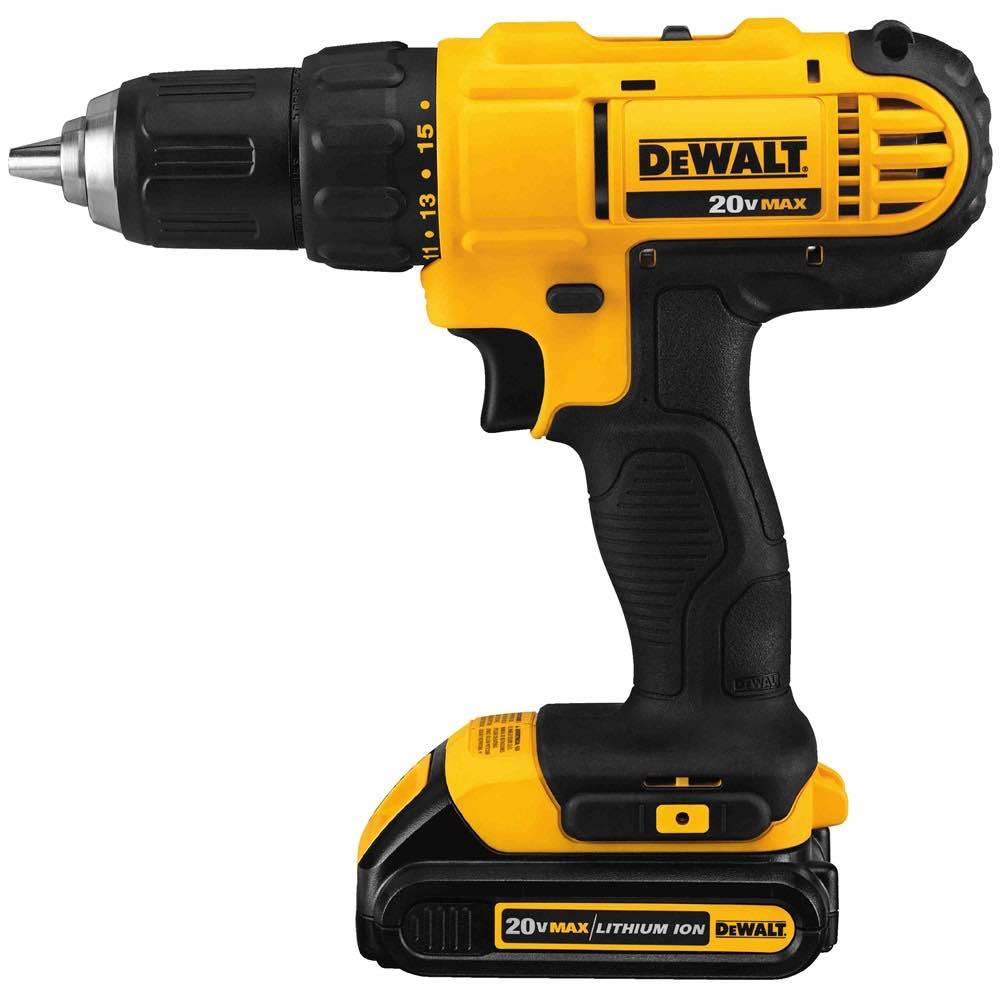 - 18V XR Li-Ion Compact Drill Driver, 1.5Ah, 13mm, 2 Speed, 220V