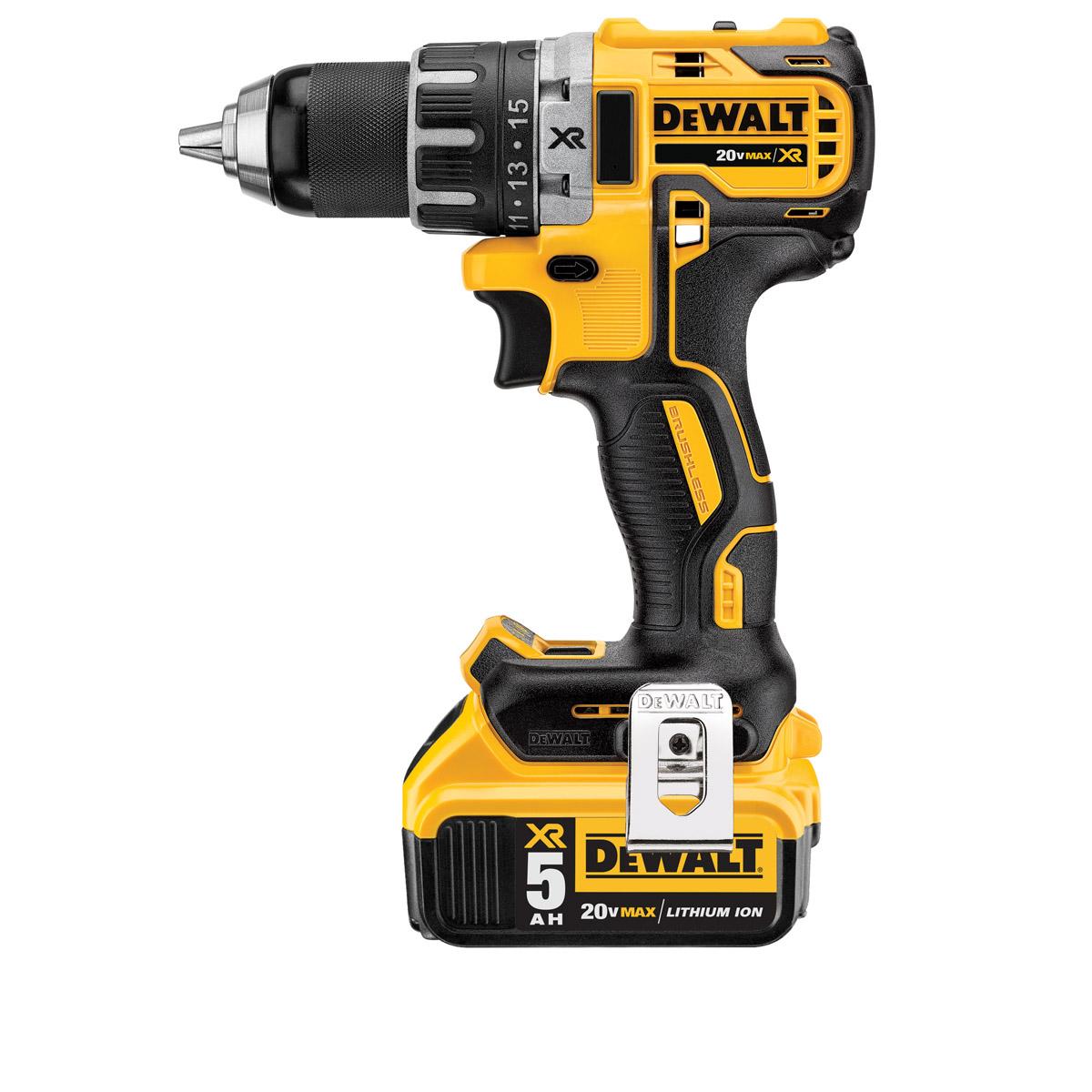 DeWALT DCD791P2-GB - 18V XR Li-Ion Brushless 13mm Compact Hammer Drill Driver 5.0Ah