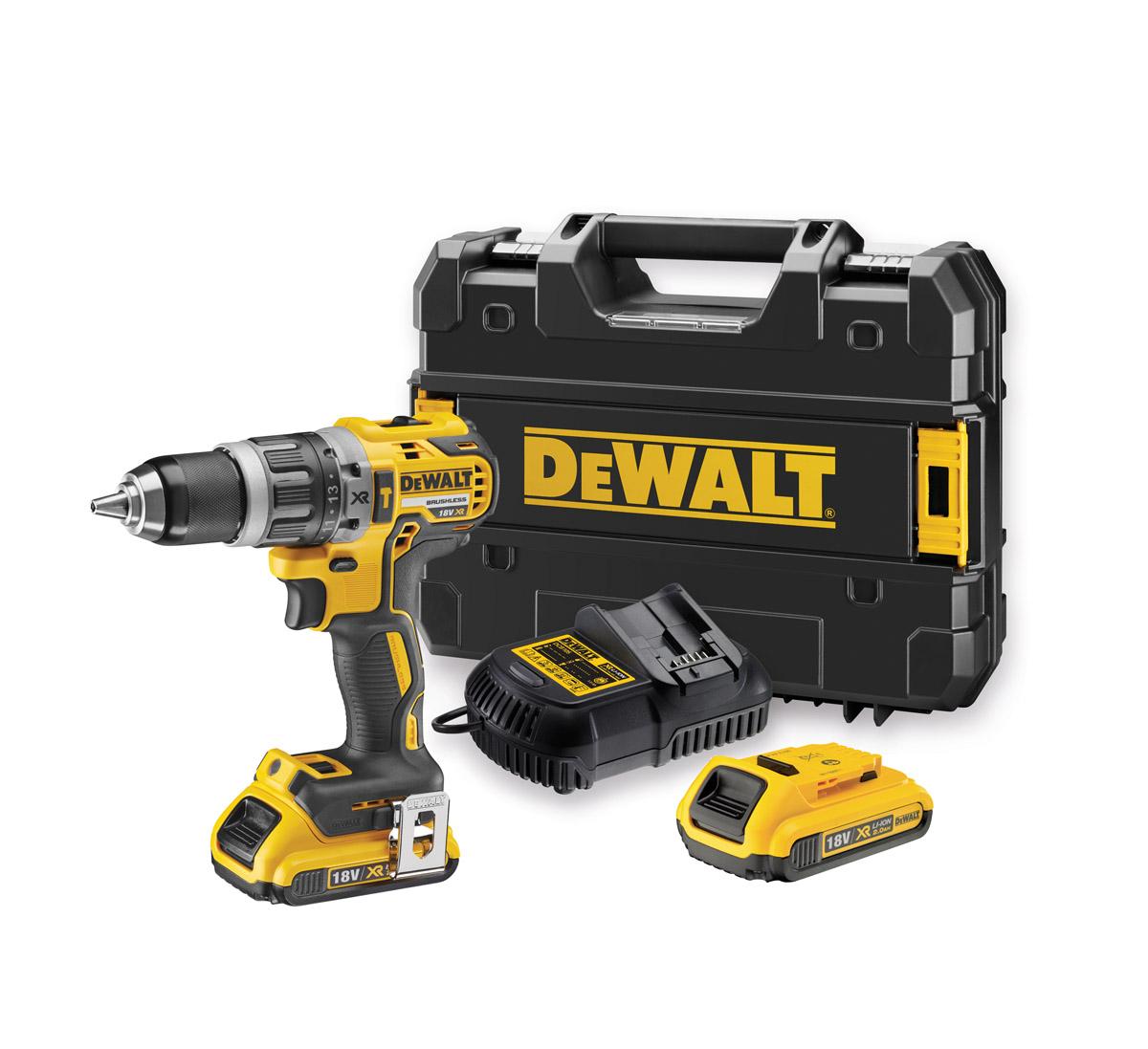 DeWALT DCD796D2-GB - 18V XR Li-Ion Brushless 13mm Compact Hammer Drill Driver