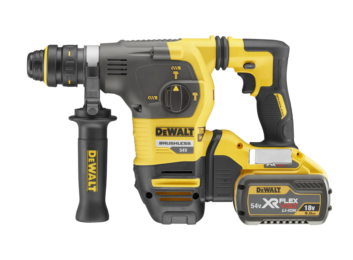DeWALT DCH334X2-GB - 54V XR Flex Volt SDS Plus Hammer w/QCC – 220V