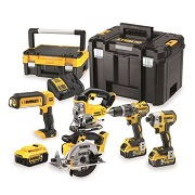 DeWALT DCK550M3T-GB - 18V Li-Ion 5-Piece Cordless Package