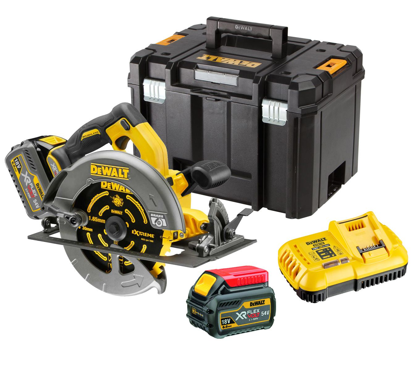 - 54V XR Flex Volt 190mm Circular Saw