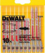 DeWALT DT2292-QZ - Metal-Cutting Jigsaw Blades Set 10Pcs