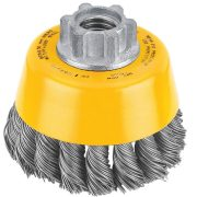 DeWALT DT3500-QZ - Twist knot wire cup brushes D65