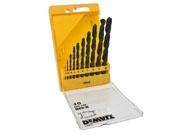 DeWALT DT5911-QZ - Pack of 10 HSS Jobber Drills in plastic cassette