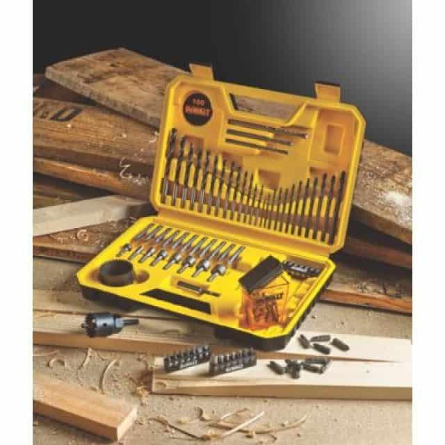 DeWALT DT71563-QZ - 100pc Comb.Drill Bit set 13 Wood Bits / 12Metal Drill