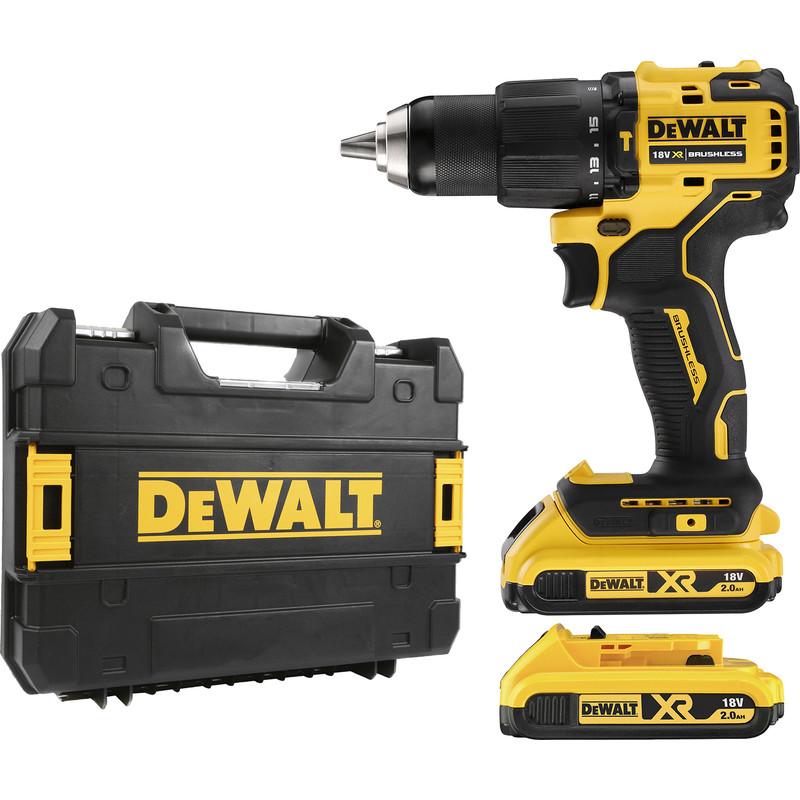 Dewalt_DCD709D2T-GB_18V XR Brushless Compact Combi Drill Driver 2 x 2.0Ah