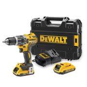 DeWALT DCD709D2-GB - 18V XR Li-ion 13mm Brushless Compact Hammer Drill Driver 2Ah Battery