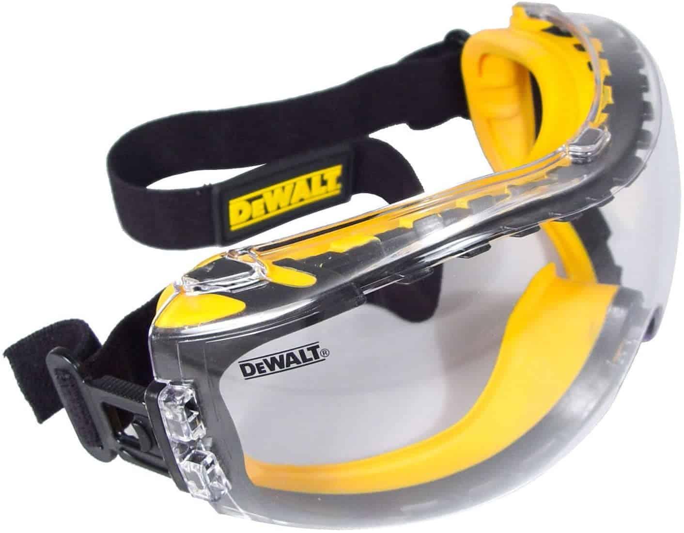 Dewalt DPG82-11 Safety Goggle Concealer, Clear Anti-Fog Lens - AABTools UAE