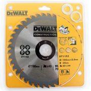 DeWALT DT1153-QZ - Construction Circular Saw Blade 190mm x 30 x 40T