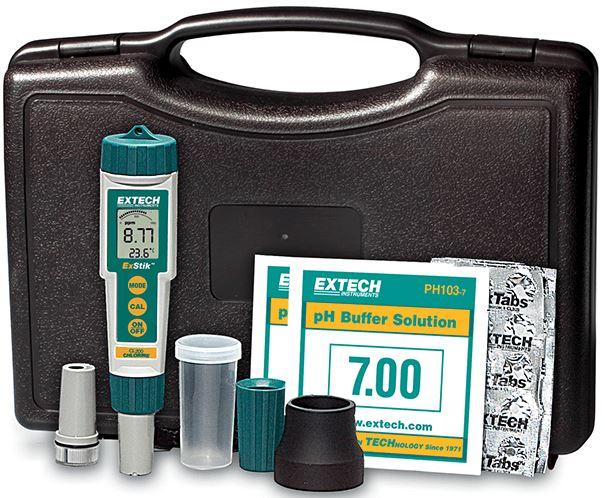 EXTECH EX800 - ExStik 3-in-1 Chlorine, pH, Temperature Kit