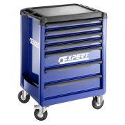 EXPERT E010193 - ROLL 7 Drawer 3 Module Roller Cabinet Blue – Load Capacity: 25kg/Drawer