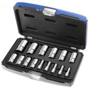 "EXPERT E031804 - 15Pc 3/8"" Square Drive 15Pc Long Metric 6Pt Socket Set + Case"