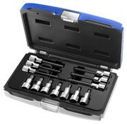 EXPERT E032906 - 1/2in Hex Bit Short & Long Socket 13 Pcs Set