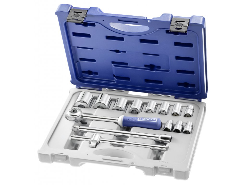 EXPERT E032938 - 1/2in Hex Socket Set Primo14Piece / 10-34mm
