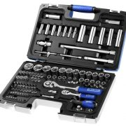 "EXPERT E034805 - 98Pc 1/4"" + 1/2"" Square Drive Metric + Torx Socket Set + Ratchets + Bits + Case"