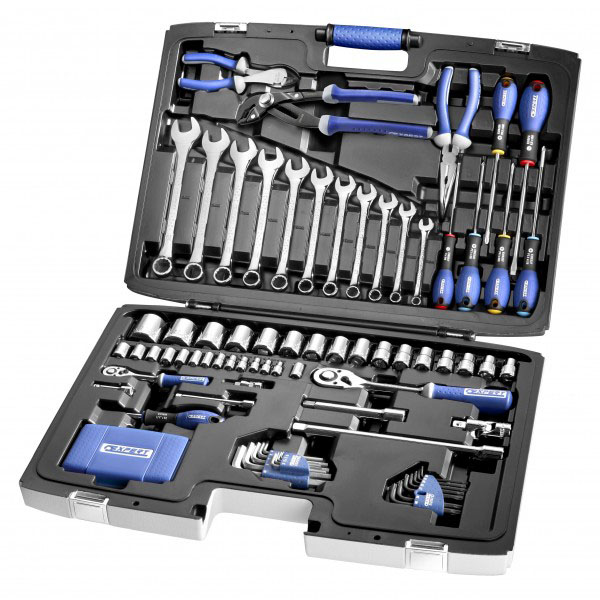 EXPERT E034806 - Tool Set + Maintenance Case 124 Pcs