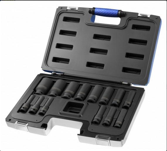 1/2in Impact Deep Socket Set 14Pcss 10-32mm