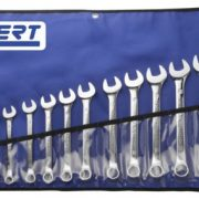 EXPERT E110313 - Metric Combination Spanner Set + Roll 18 Pcs 6-24mm Tool Roll
