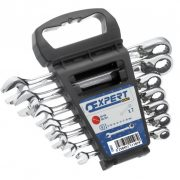 EXPERT E111107 - Metric Ratchet Combination Spanner Set + Rack 7 Pcs 8-19mm