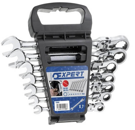 EXPERT E111108 - Flex Ratchet Wrench Set 7 Pcs 8-19mm