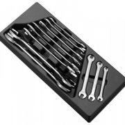 EXPERT E111220 - Open End Wrench Set 11 Pcs 6-32mm