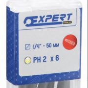 EXPERT E113691 - 1/4in 50mm Bit Ph1  – 6pc
