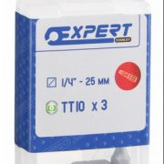 EXPERT E117781 - 1/4in Bit Tamp Proof Torx10 25mm 3pc