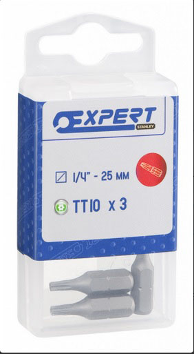 EXPERT E117783 - 1/4in Bit Tamp Proof Torx20 25mm 3pc
