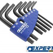 EXPERT E121102 - Sleeve Set Of 7 Torx Keys 1/16-3/8in 7pc