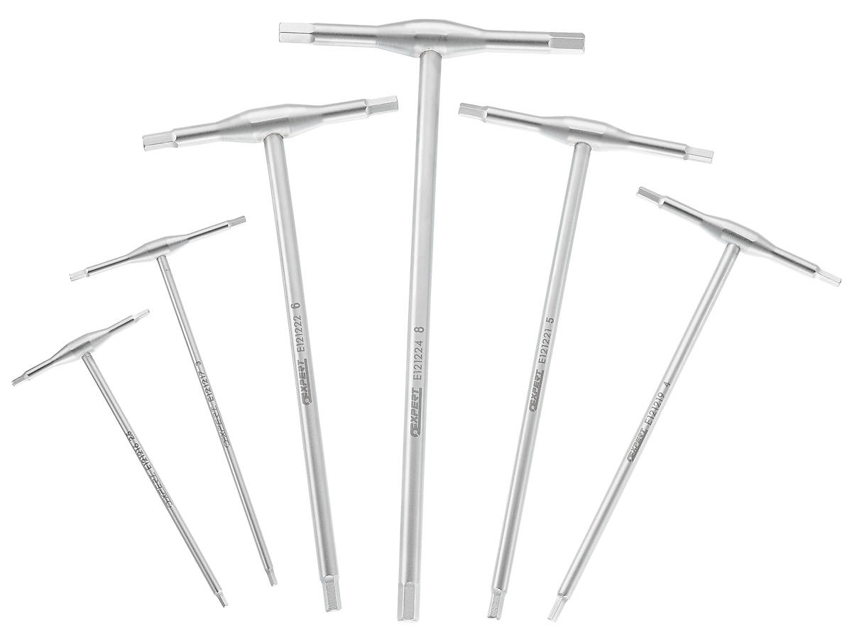 EXPERT E121229 - Hex Wrench T-Handle  Set; 6Piece