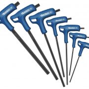 EXPERT E121617 - T-Handle Hex Keys 2.5-10, 7pc