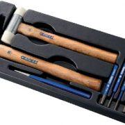 EXPERT E150801 - Riveting Hammer + Mallet + Drift Punch Set + Module Tray