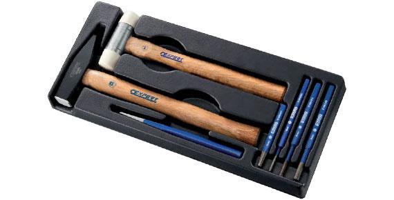 EXPERT E150802 - Din Hammer + Mallet + Drift Punch Set + Module Tray