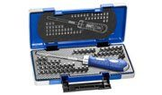 EXPERT E160804 - Ratcheting Screwdriver w/bit set 59 Pcs