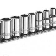 "EXPERT E194675 - 13Pc 1/4"" Square Drive Metric 6Pt Socket Set + Rack"