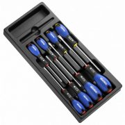EXPERT E194940 - Slotted Phillips Screwdriver Set + Module Tray 8Pcs